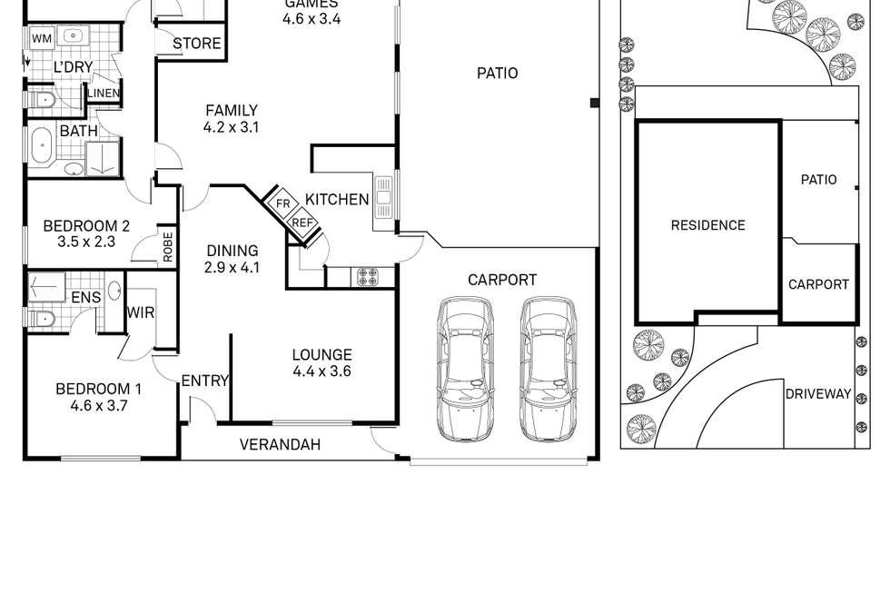 Floorplan of Homely house listing, 113 Kingsley Drive, Kingsley WA 6026