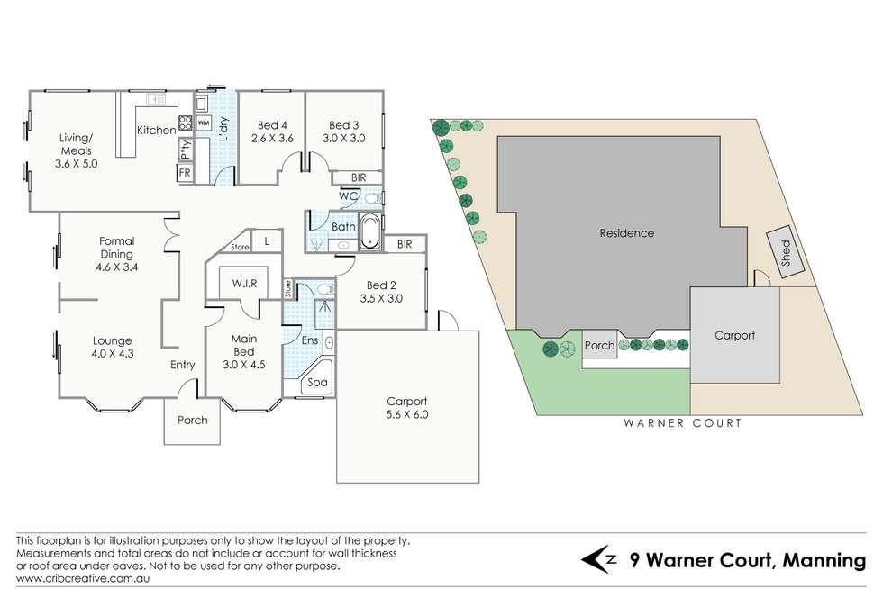 Floorplan of Homely house listing, 9 Warner Court, Manning WA 6152