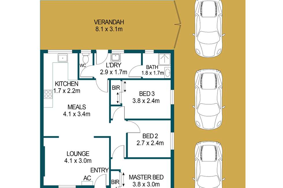 Floorplan of Homely house listing, 45 Penfold Road, Elizabeth South SA 5112