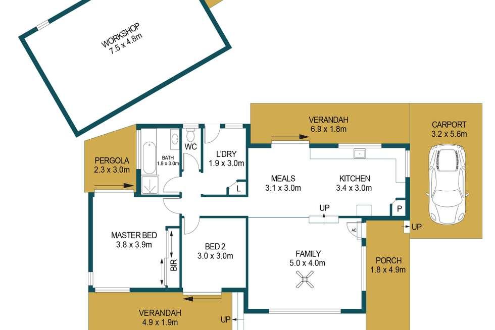 Floorplan of Homely house listing, 37 Billabong Road, Para Hills SA 5096