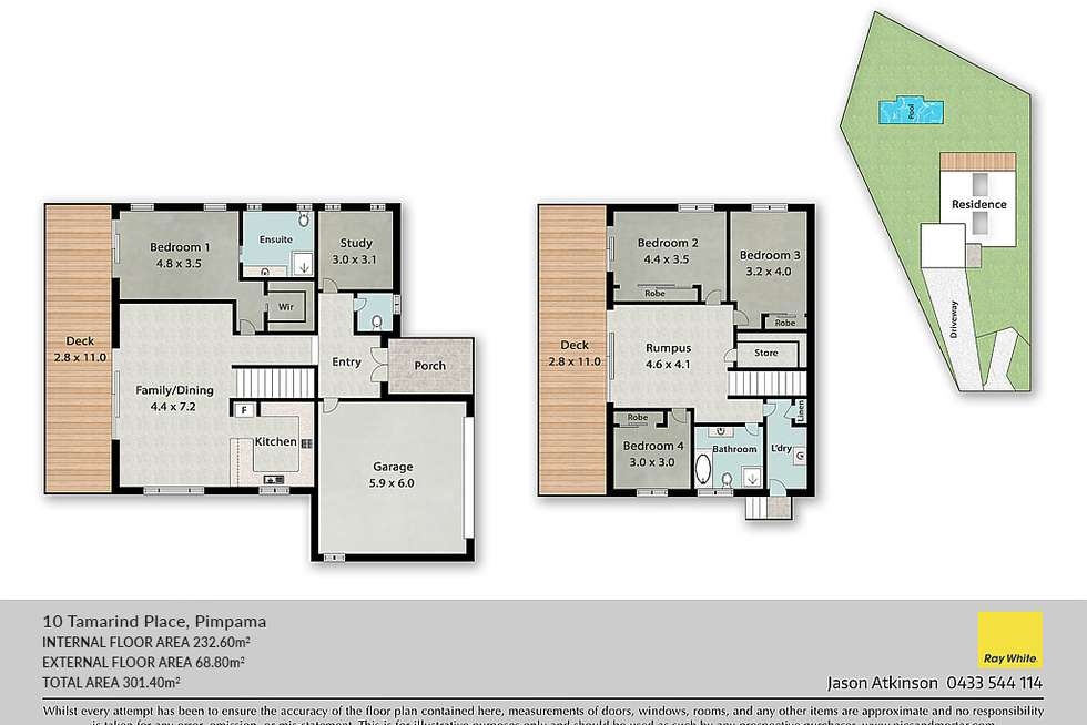Floorplan of Homely house listing, 10 Tamarind Place, Pimpama QLD 4209