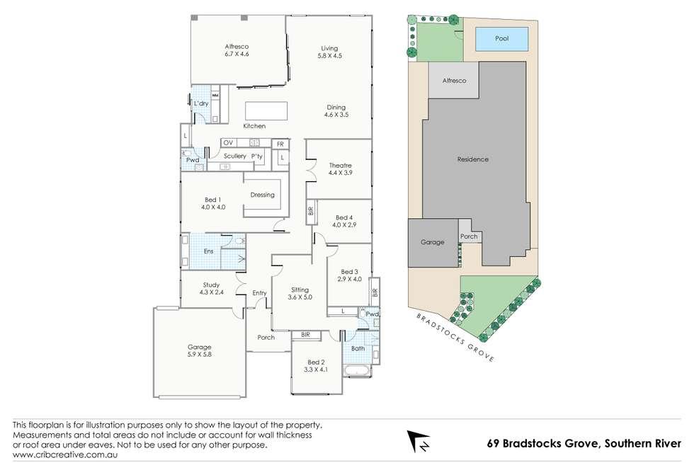 Floorplan of Homely house listing, 69 Bradstocks Grove, Southern River WA 6110