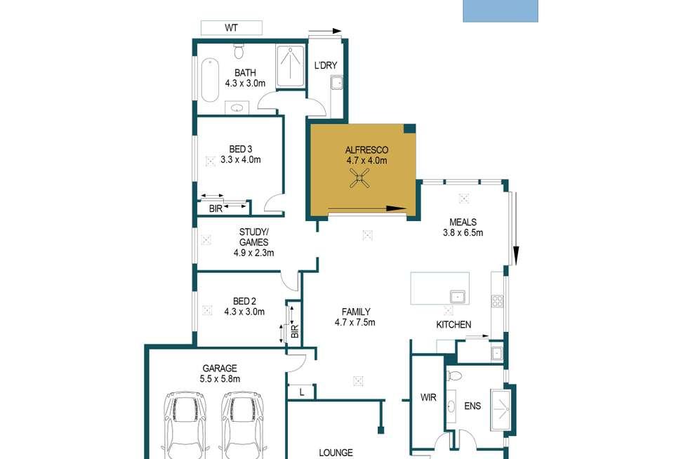 Floorplan of Homely house listing, 5 Green Court, Angle Vale SA 5117