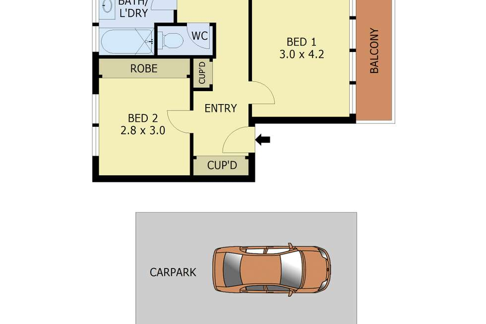 Floorplan of Homely apartment listing, 3/10 Clyde Street, Surrey Hills VIC 3127