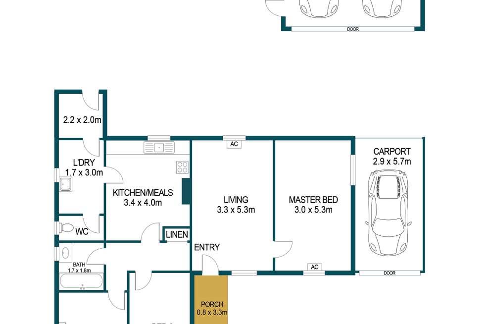 Floorplan of Homely house listing, 10 Whitsbury Road, Elizabeth North SA 5113