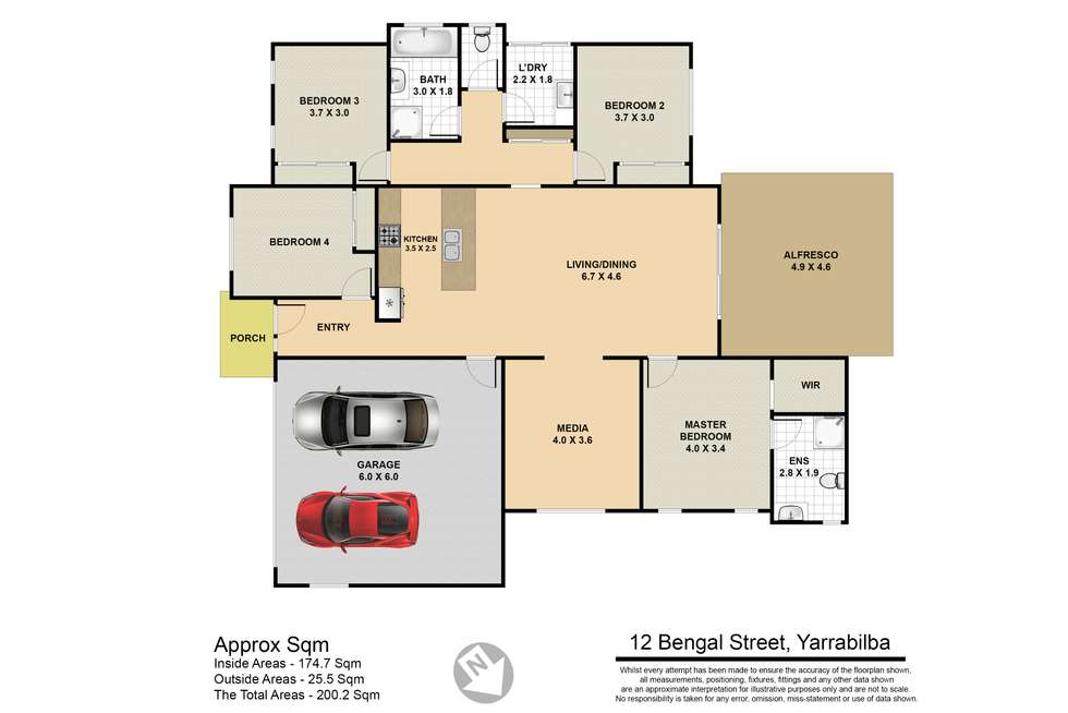 Floorplan of Homely house listing, 12 Bengal Street, Yarrabilba QLD 4207