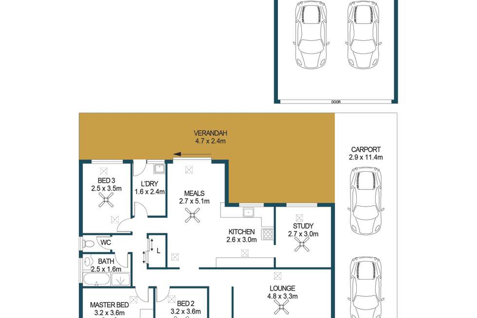 Floorplan of Homely house listing, 16 Holden Court, Paralowie SA 5108