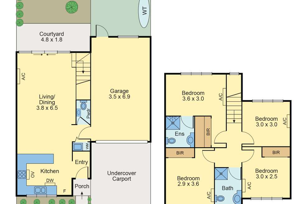 Floorplan of Homely townhouse listing, 4/30 Ames Avenue, Carnegie VIC 3163
