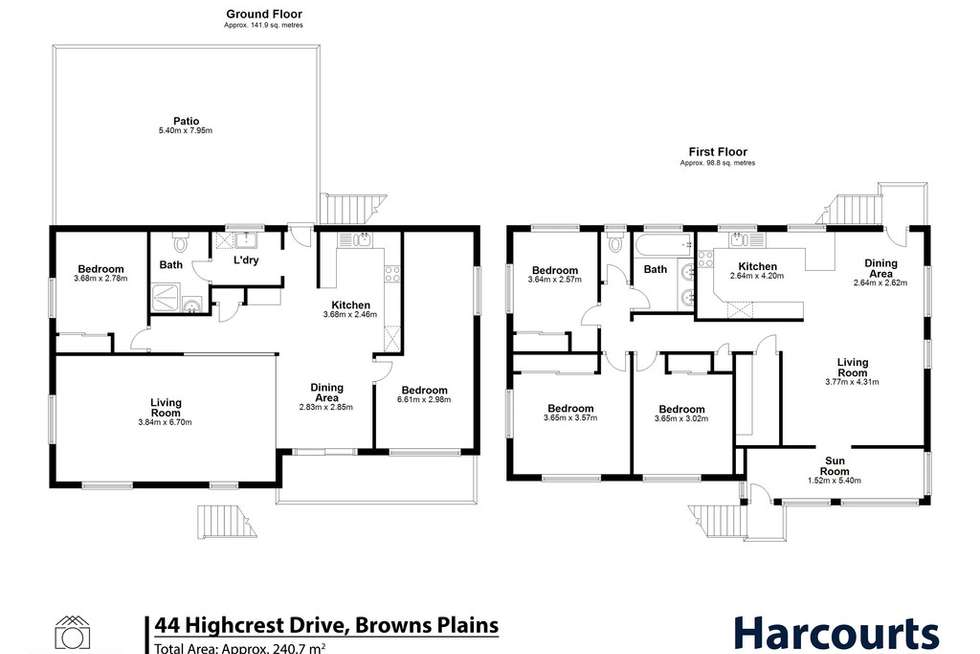 Floorplan of Homely house listing, 44 Highcrest Drive, Browns Plains QLD 4118
