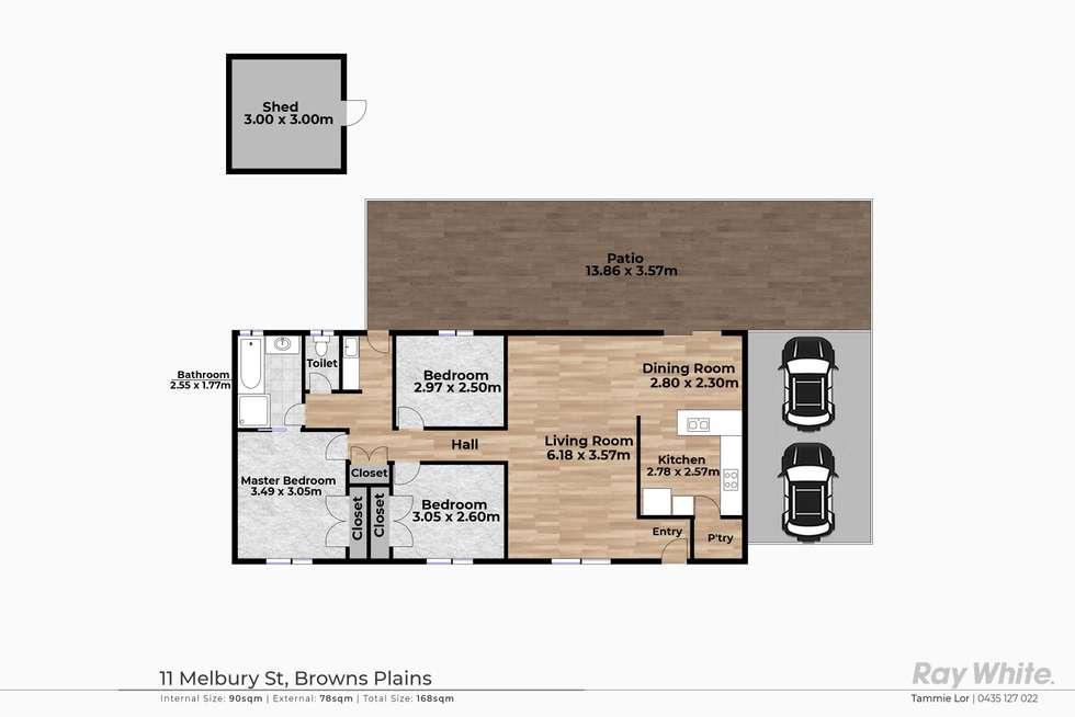 Floorplan of Homely house listing, 11 Melbury Street, Browns Plains QLD 4118