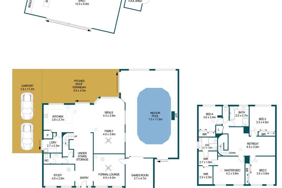 Floorplan of Homely house listing, 8 Modra Circuit, Hillbank SA 5112