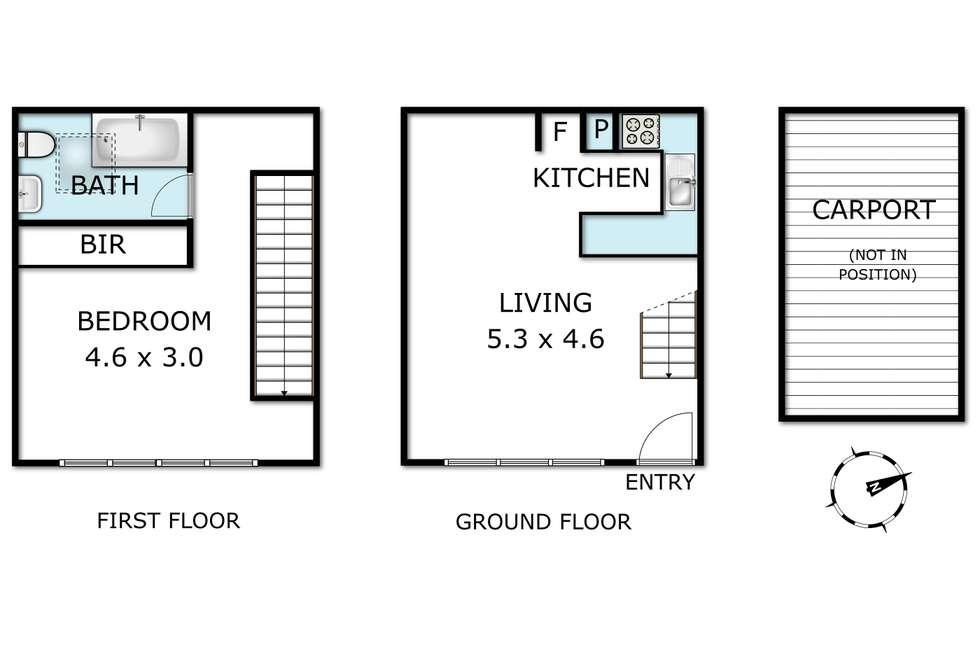 Floorplan of Homely unit listing, 9/12 Oxford Street, Box Hill VIC 3128