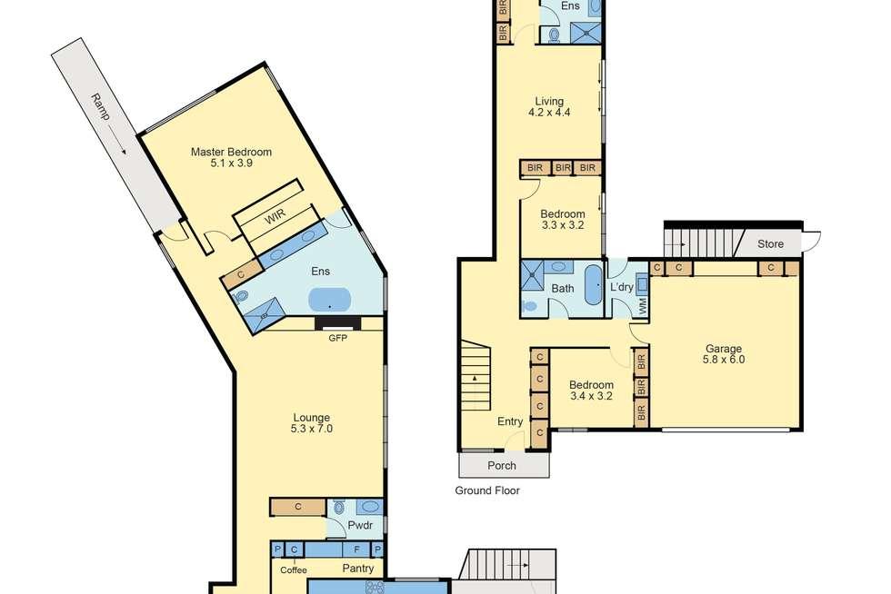 Floorplan of Homely house listing, 5 Lower Drive, Kew VIC 3101