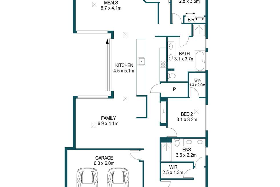 Floorplan of Homely house listing, 2 Havenwood Court, Paralowie SA 5108