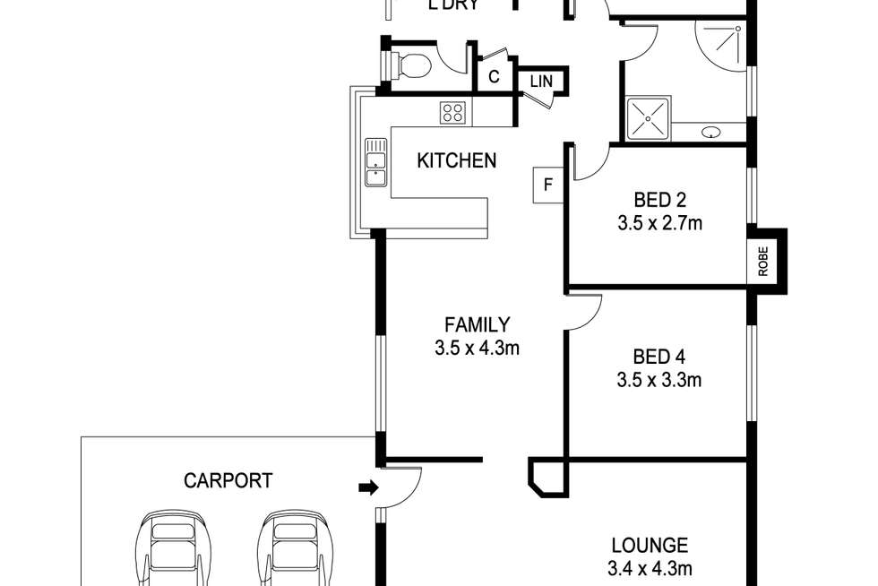 Floorplan of Homely house listing, 49 Adina Way, Rockingham WA 6168