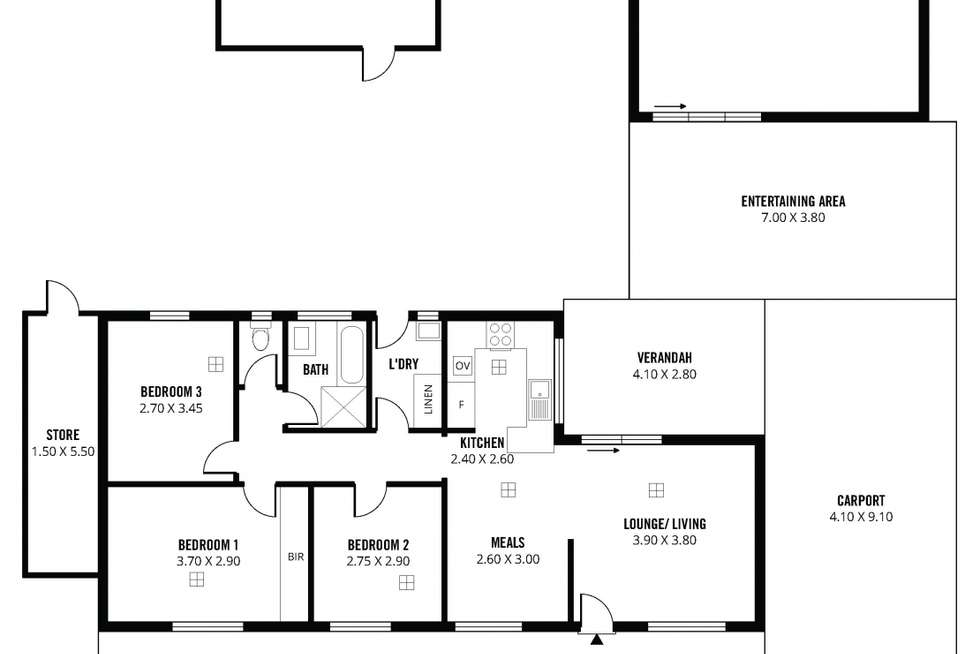 Floorplan of Homely house listing, 23 Guernsey Crescent, Salisbury North SA 5108