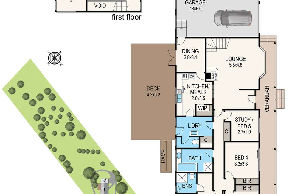 Floorplan of Homely house listing, 80 McClelland Drive, Langwarrin VIC 3910
