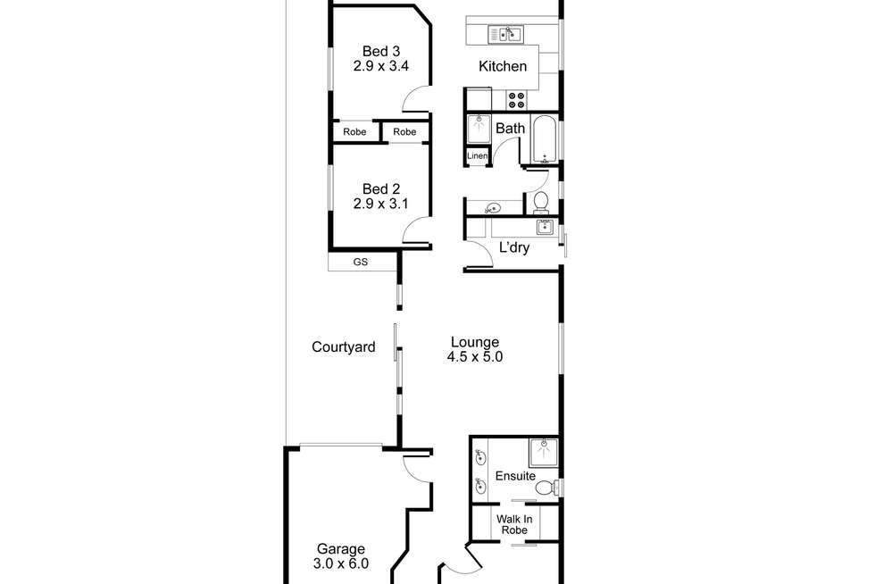 Floorplan of Homely house listing, 4A Byron Avenue, Clovelly Park SA 5042