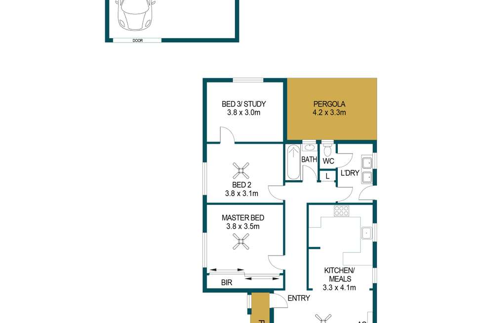 Floorplan of Homely house listing, 32 Fletcher Street, Woodville North SA 5012