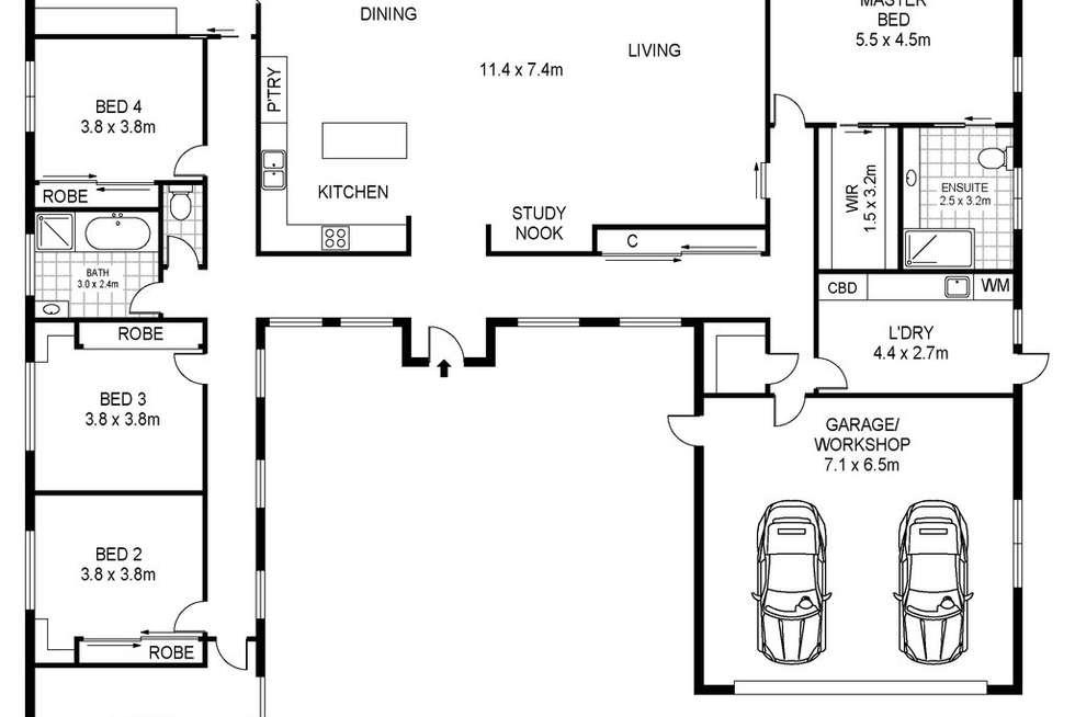 Floorplan of Homely house listing, 45 Model Lane, Port Fairy VIC 3284