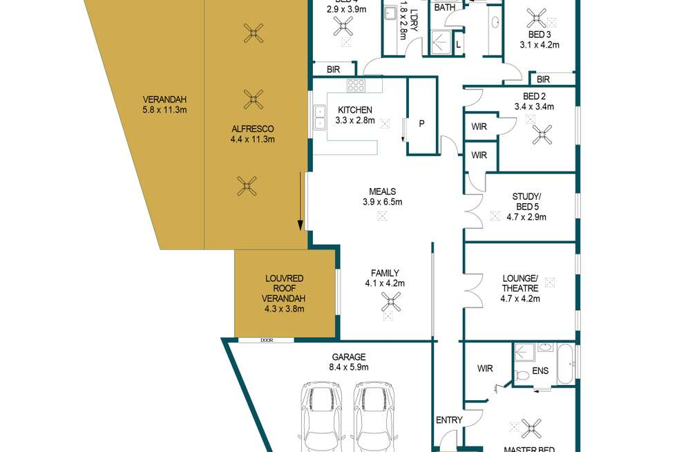 Floorplan of Homely house listing, 54 Wallace Drive, Craigmore SA 5114