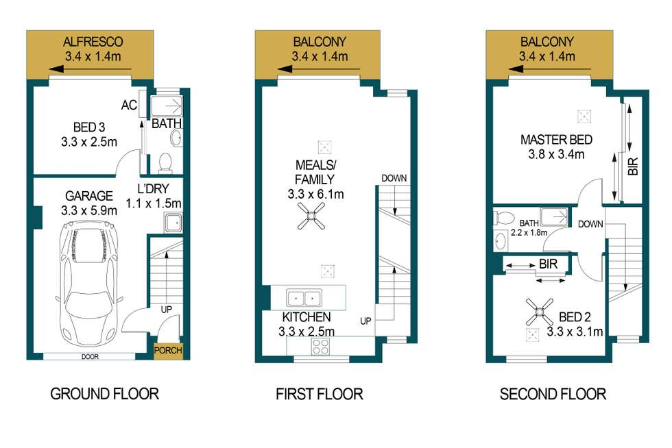 Floorplan of Homely house listing, 8/5 Coventry Street, Mawson Lakes SA 5095
