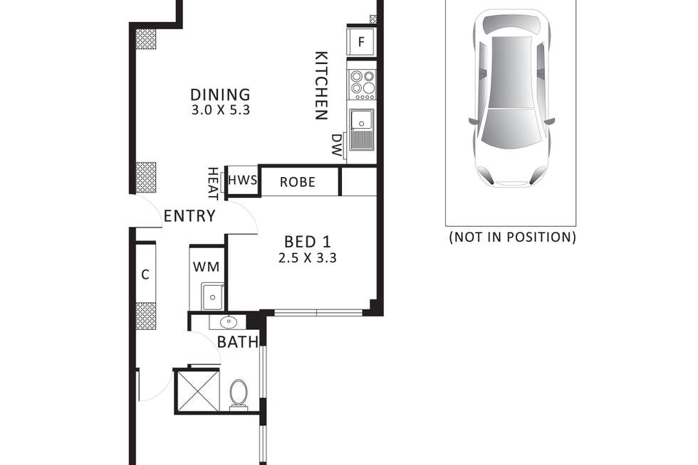 Floorplan of Homely apartment listing, 507/616 Little Collins Street, Melbourne VIC 3000