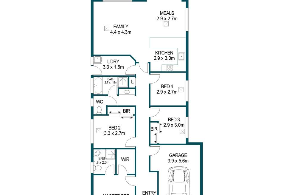 Floorplan of Homely house listing, 30 Golden Circuit, Parafield Gardens SA 5107