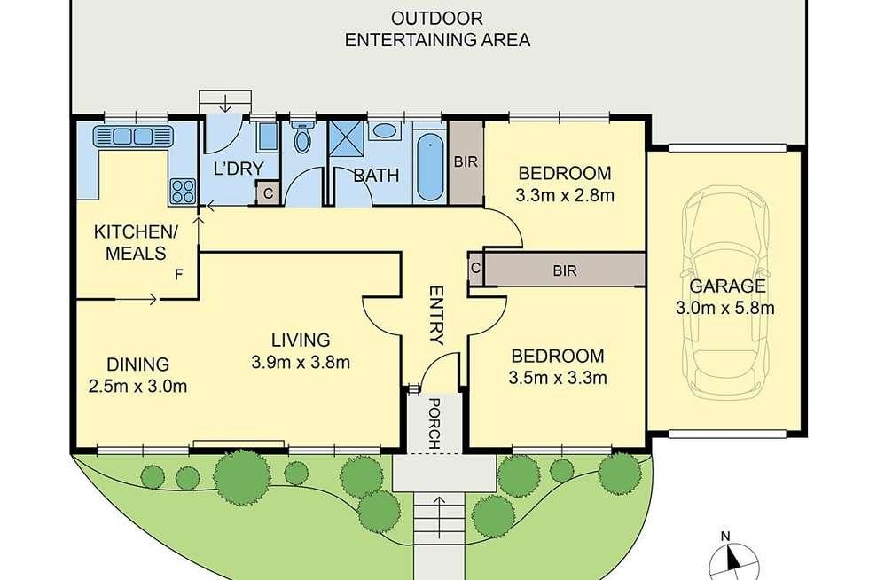 Floorplan of Homely unit listing, 3/5 Renown Street, Burwood VIC 3125
