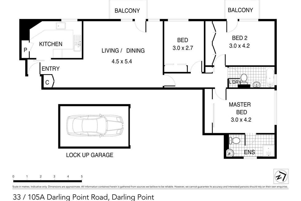 Floorplan of Homely apartment listing, 33/105a Darling Point Road, Darling Point NSW 2027