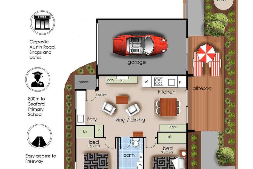 Floorplan of Homely unit listing, 2/179 Austin Road, Seaford VIC 3198