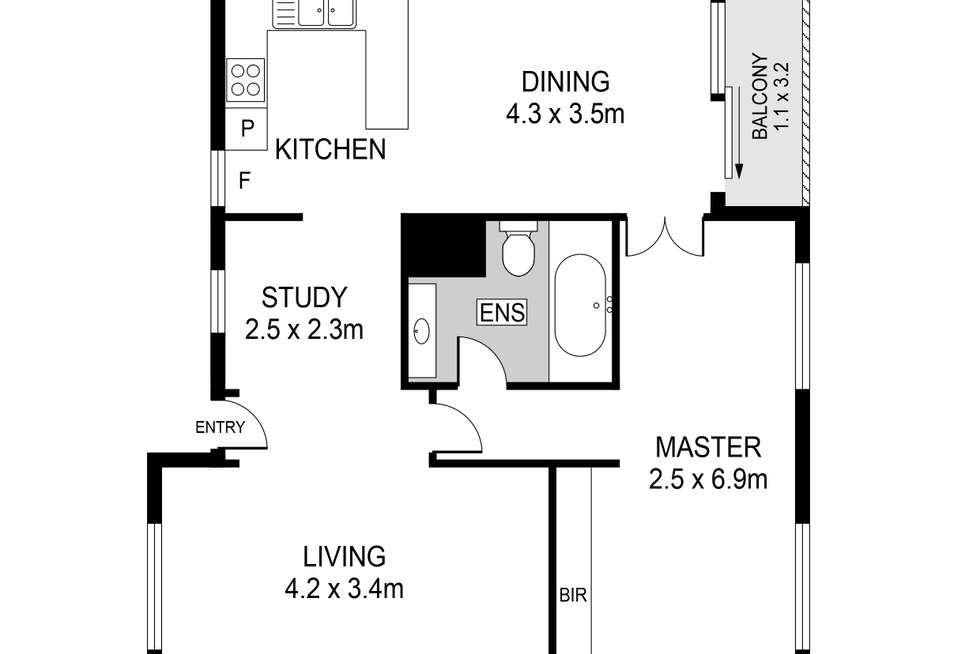 Floorplan of Homely apartment listing, 44/160 Mill Point Road, South Perth WA 6151