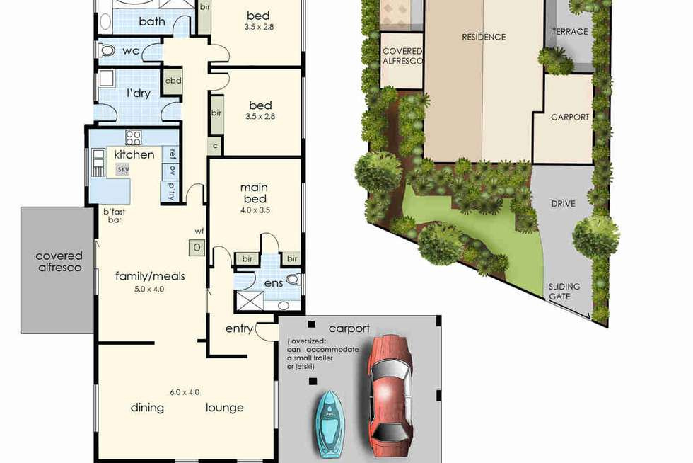 Floorplan of Homely house listing, 22 Amaroo Drive, Chelsea Heights VIC 3196