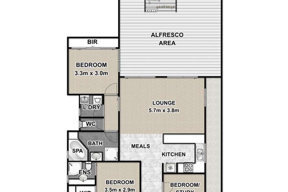 Floorplan of Homely townhouse listing, 3/802 Highbury Road, Glen Waverley VIC 3150