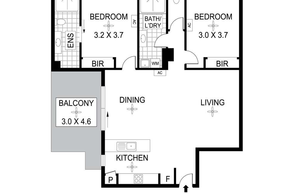 Floorplan of Homely unit listing, 6/3 Coronation Drive, Stuart Park NT 820