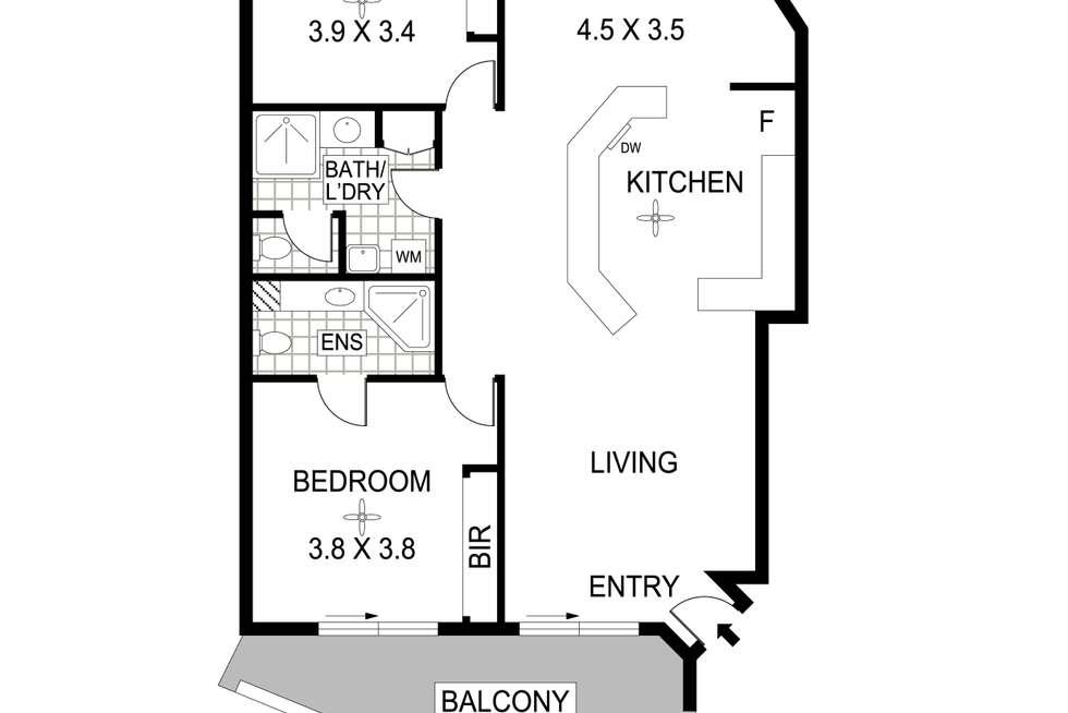 Floorplan of Homely unit listing, 11/16-18 Coronation Drive, Stuart Park NT 820