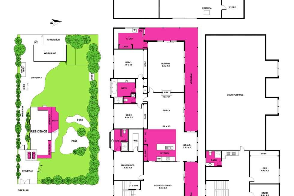 Floorplan of Homely house listing, 11-13 Lennox Court, Drysdale VIC 3222