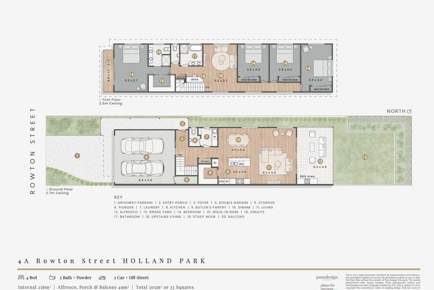 Floorplan of Homely house listing, 4A & 4B Rowton Street, Holland Park QLD 4121
