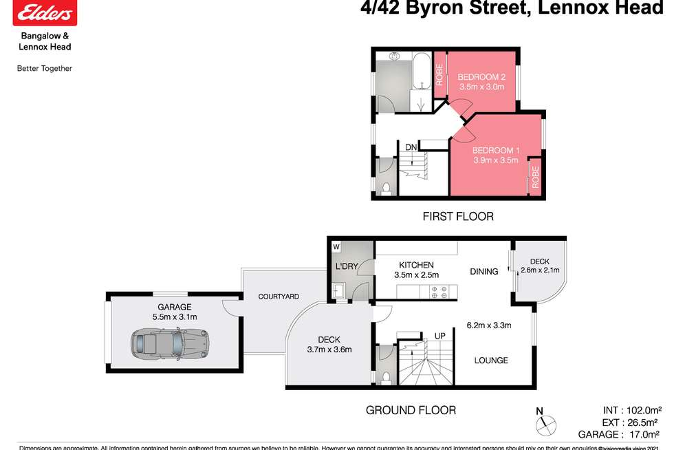 Floorplan of Homely unit listing, 4/42 Byron Street, Lennox Head NSW 2478