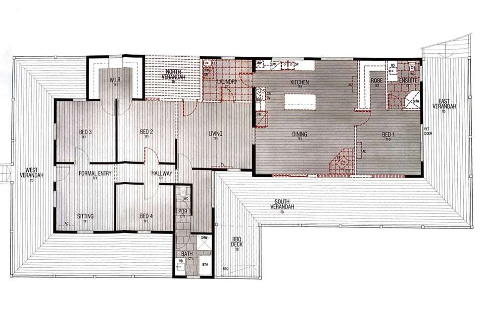 Floorplan of Homely acreageSemiRural listing, 217 Gowrie Tilgonda Road, Gowrie Junction QLD 4352