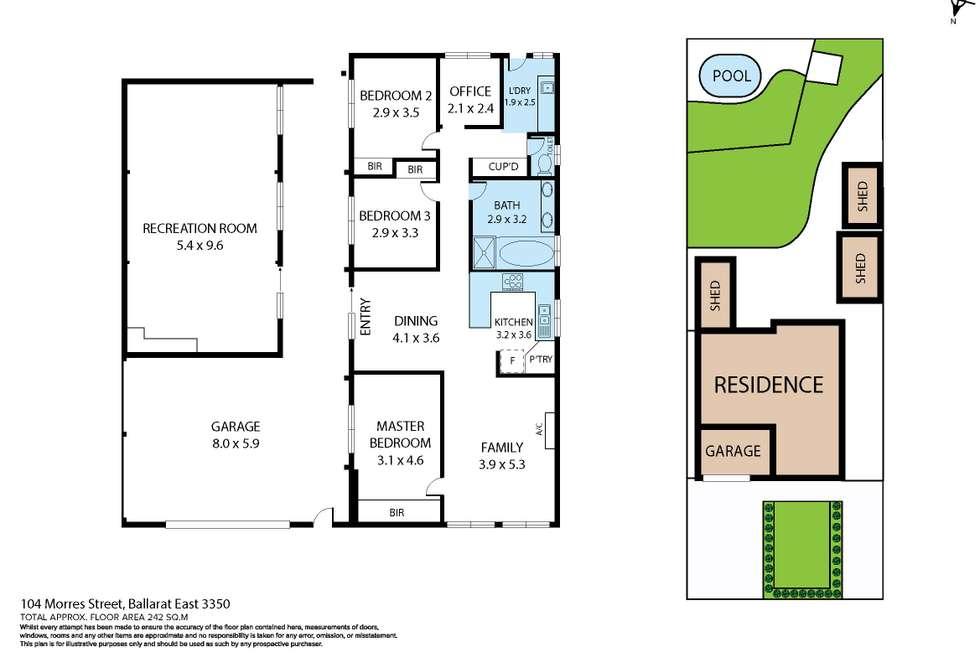 Floorplan of Homely house listing, 104-106 Morres Street, Ballarat East VIC 3350