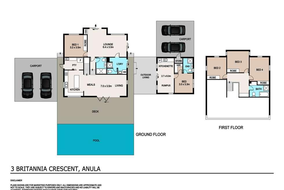 Floorplan of Homely house listing, 3 Britannia Crescent, Anula NT 812