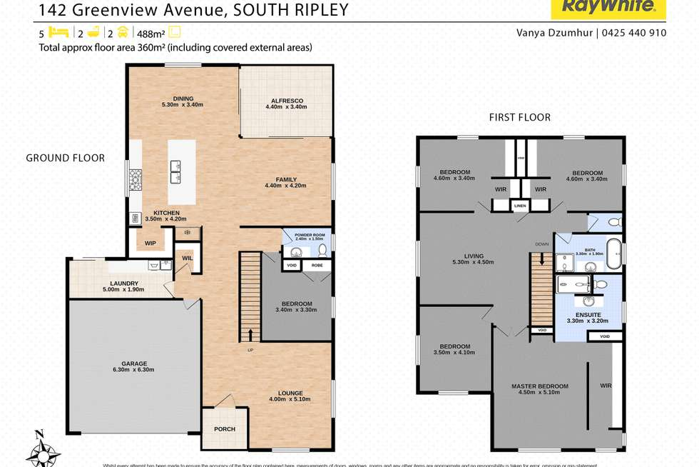 Floorplan of Homely house listing, 142 Greenview Avenue, South Ripley QLD 4306