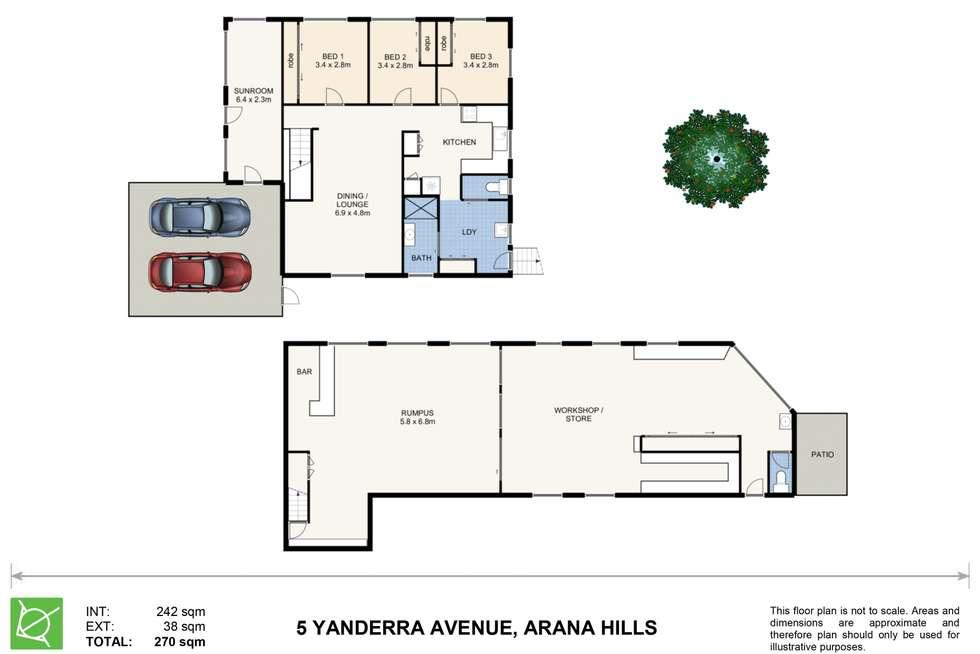 Floorplan of Homely house listing, 5 Yanderra Avenue, Arana Hills QLD 4054