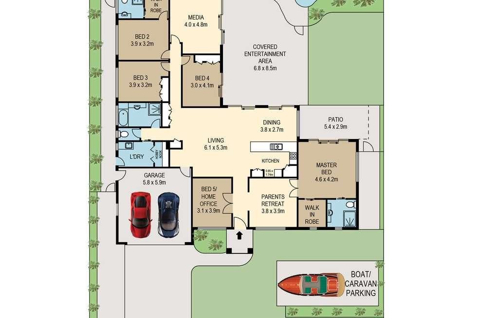 Floorplan of Homely house listing, 10 Harrogate Terrace, Birkdale QLD 4159