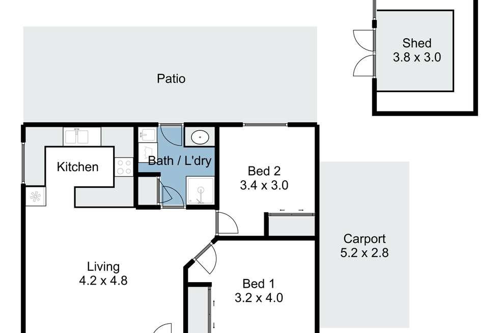 Floorplan of Homely house listing, 1/14 Goodwin Street, Benalla VIC 3672