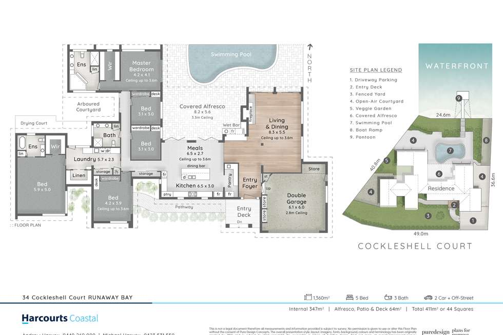 Floorplan of Homely house listing, 34-36 Cockleshell Court, Runaway Bay QLD 4216
