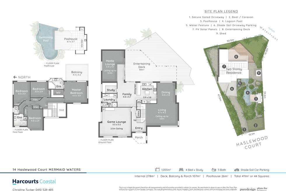 Floorplan of Homely house listing, 14 Haslewood Court, Mermaid Waters QLD 4218