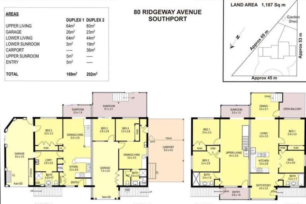 Floorplan of Homely house listing, 1 & 2/80 Ridgeway Avenue, Southport QLD 4215
