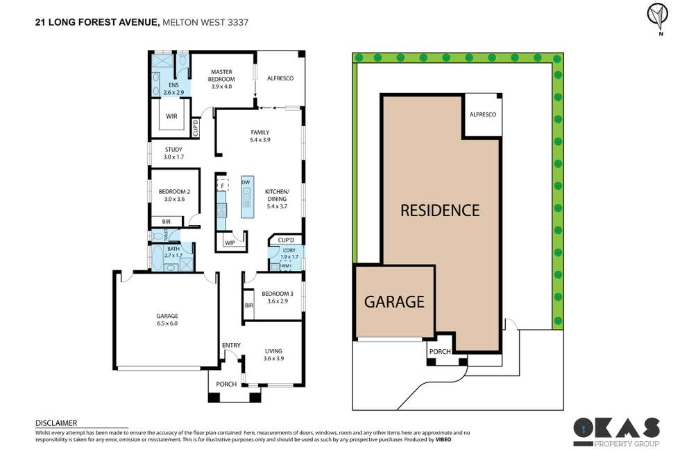 Floorplan of Homely house listing, 21 Long Forest Avenue, Harkness VIC 3337